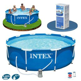 Intex 28212,56996 Каркасный бассейн Metal Frame Pool (366х76 см)